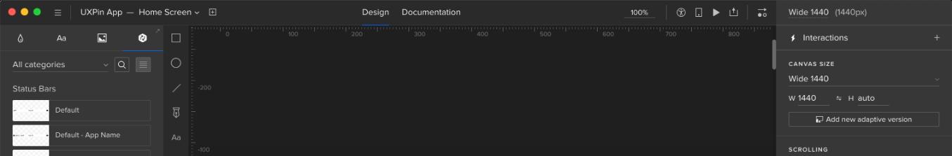 UXPin editor